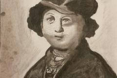 Joeseph Beuys (After Glenn Brown, After Rembrandt)