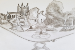 Travels of Sketches: Abbey Gardens (Cathedral)