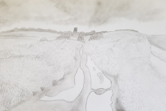 Travels of Sketches: Covehithe (Path to the Sea)