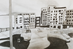 Travels of Sketches: Athena Hall Car Park